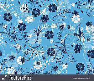 Abstract Patterns: Blue Floral Pattern - Stock ...
