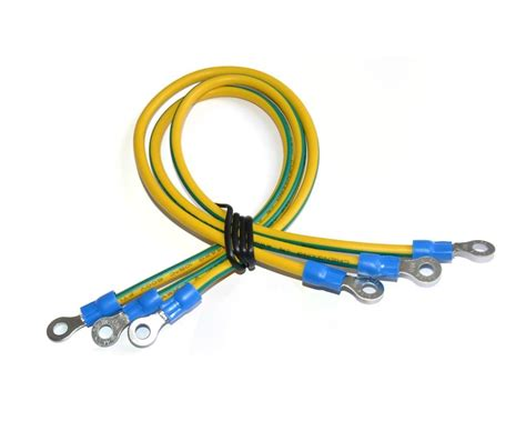 no 3493 green yellow grounding wire 120mm pvc insulated