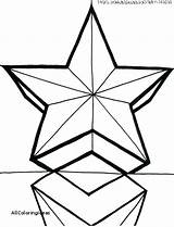Star Christmas Coloring Pages Drawing Printable Getcolorings Clipartmag sketch template