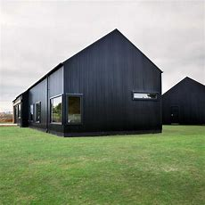Modern Barn Form  Innovative Black Barn By Red Architecture
