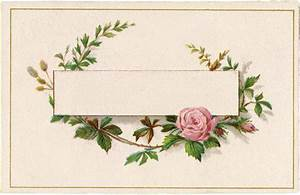 Pretty French Roses Label! - The Graphics Fairy