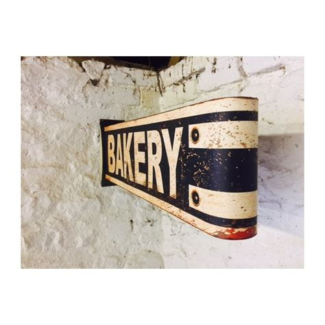high quality baker wall sign  metal  quirky nostalgic