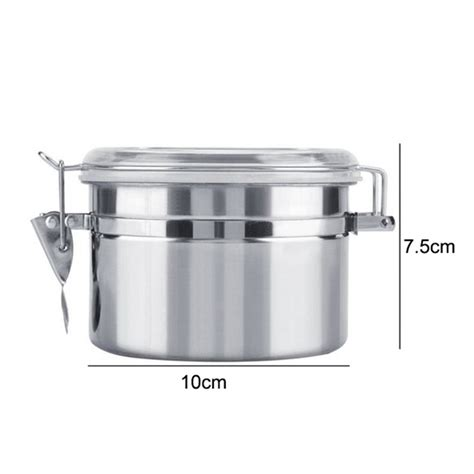 Get it as soon as thu, may 20. Stainless Steel Coffee Canister Food Storage Jar Tea Powder Container | eBay