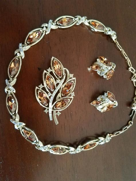 Vintage Kramer Jewelry Set - Matching Necklace, Clip on ...