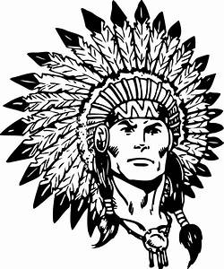 Indian Chief Black And White Clipart - Clipart Suggest
