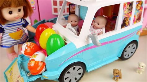 Baby Doll Camping Car House Toy And Kinder Joy Surprise