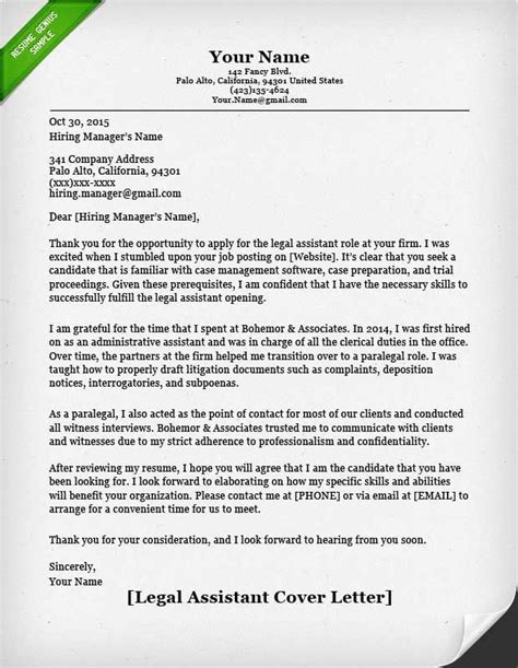 legal assistant cover letter sample  top