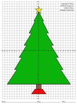 christmas tree  quadrants coordinate drawing