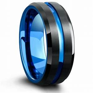 The Atlantic Blue Silver Ring With Blue Carved Center