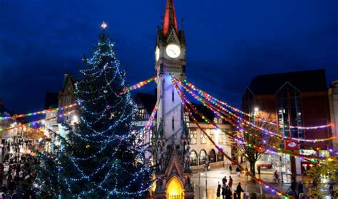 christmas time in leicester
