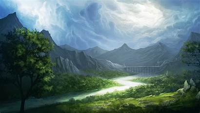 Desktop Landscape Fantasy Pc Background Wallpapers Computer