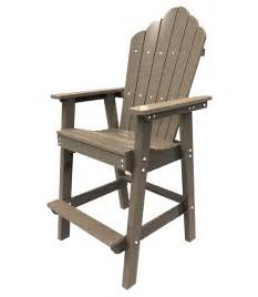 bar height adirondack dining chair patio