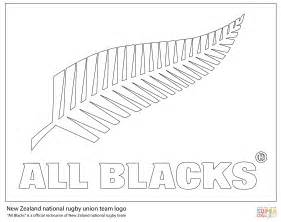 Rugby Kleurplaat by All New Zealand Rugby Team Coloring Page Free