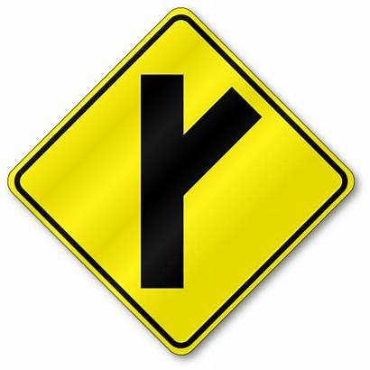 Road Side Right Diagonal Traffic W2 3r