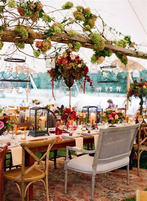 boho vintage table setting chairs dont