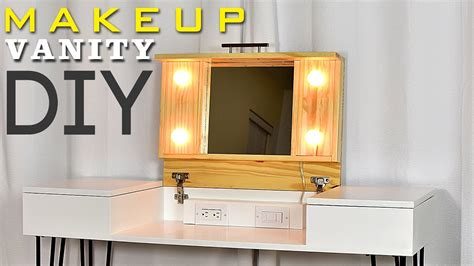 diy vanity table plans diy makeup vanity desk with storage plans available