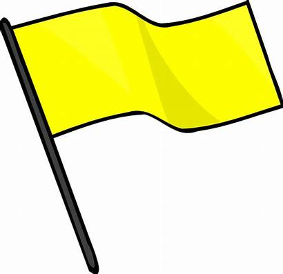 Flag Yellow Flags Clipart Clip Racing Caution