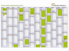 Ferien BadenWürttemberg 2015 Ferienkalender zum Ausdrucken