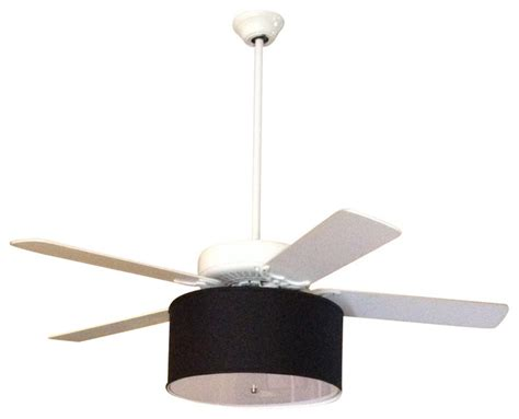 drum shade ceiling fan linen drum shade light kit for ceiling fans black 17 quot x17