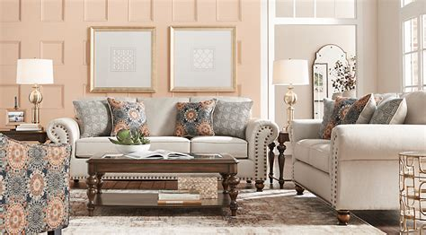 Home Decor 86th Street : Court Street Beige 8 Pc Living Room