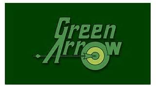 Green Arrow Text Logo WP by MorganRLewis on DeviantArt  Green Arrow Superhero Logo