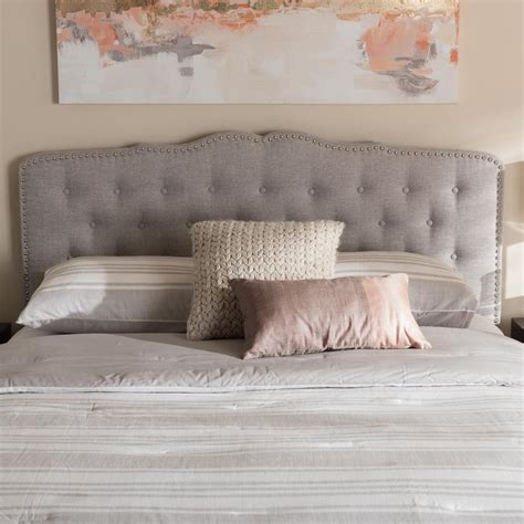 Fabric Headboard by Baxton Studio Greyish Beige Fabric Upholstered