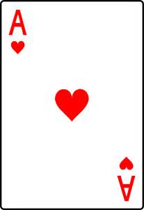 table settings ace of hearts card free clip