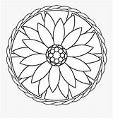 Therapy Drawing Mandala Coloring Easy Clipartkey sketch template