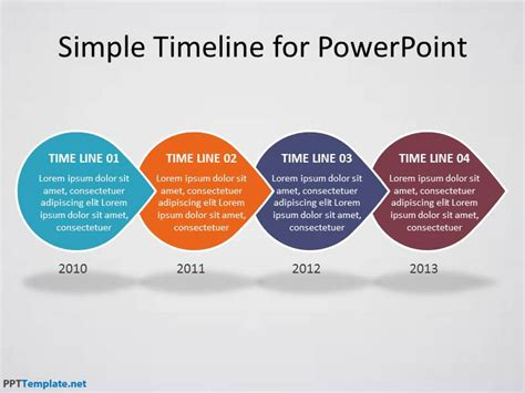 templates powerpoint gratis free timeline ppt template