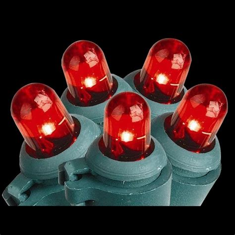 home accents holiday 100 light led red dome lights ty 100d