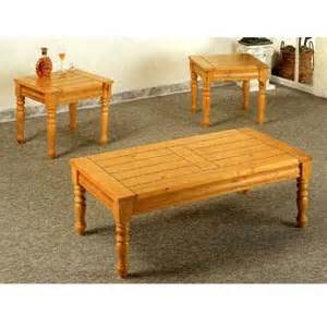 3 pc coffee and end table set in pine finish 5110 co