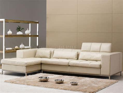 beige leather modern elegant sectional sofa wmetal legs
