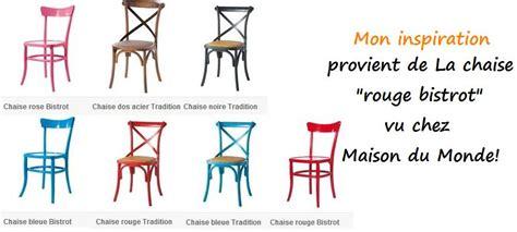 chaise bistrot maison du monde un petit coup de peps pour cette vieille chaise en