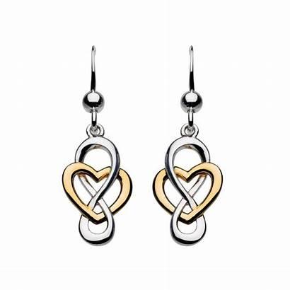 Earrings Looped Celtic Heritage Cara Heart