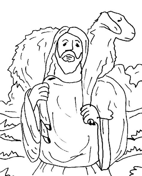 Kleurplaat Verloren Schaap by Lost Sheep Coloring Page Az Coloring Pages