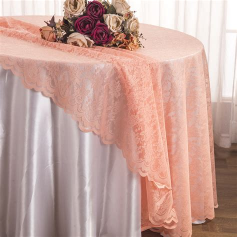 round lace table overlays apricot peach round lace table overlays lace