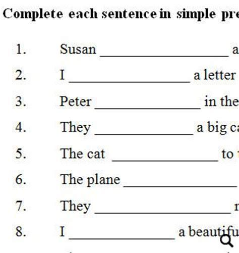 simple present pronouns  adjectives review