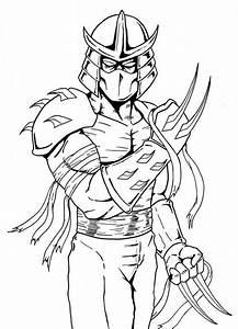 Shredder Teenage Mutant Ninja Turtles Coloring Page