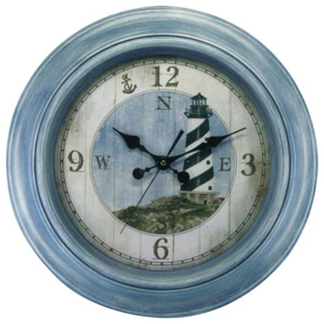 lighthouse wall clock quot lighthouse decoration clocks by handcrafted nautical decor