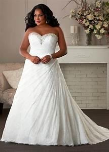white ivory a line lace wedding dress bridal gown plus With plus size a line wedding dresses