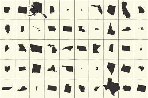 50 U.s. State Shapes & Map