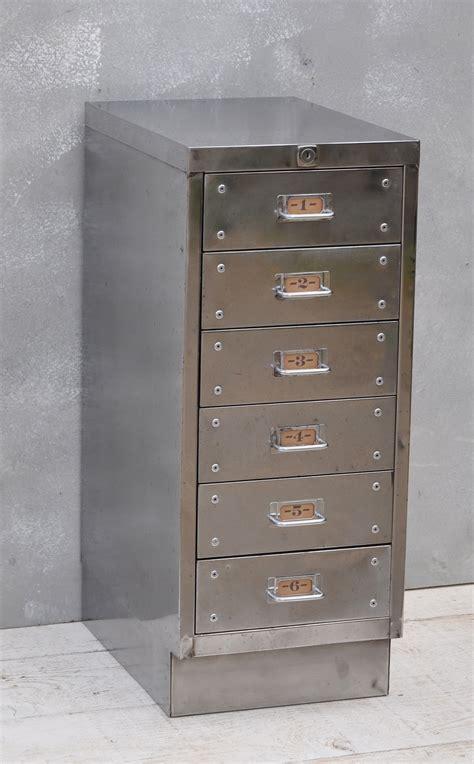 vintage industrial steel filing cabinet  drawer home barn vintage