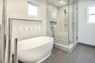 bella vista modern master bathroom h2h