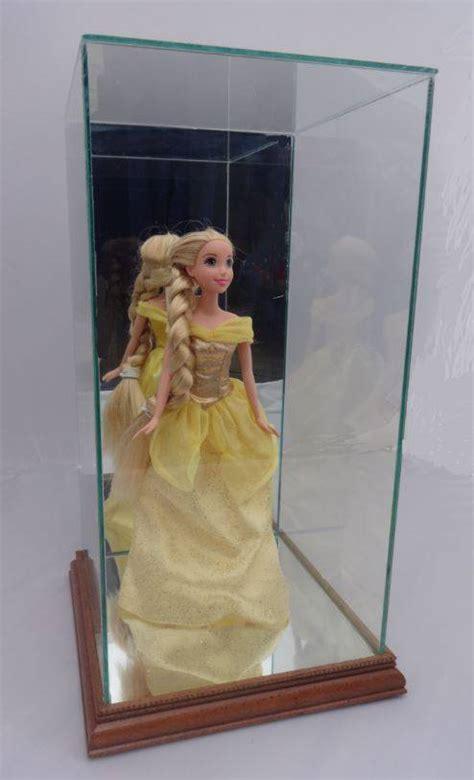 custom doll case  wood trim medium doll