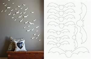Diy simple and easy paper bat wall art make it