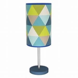 Lampe De Chevet Bleu : lampe de chevet design triangle bleu ~ Dailycaller-alerts.com Idées de Décoration