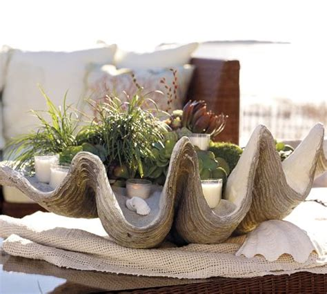 decorating on the half shell clamshells in home decor - Large Clam Shell Decoration