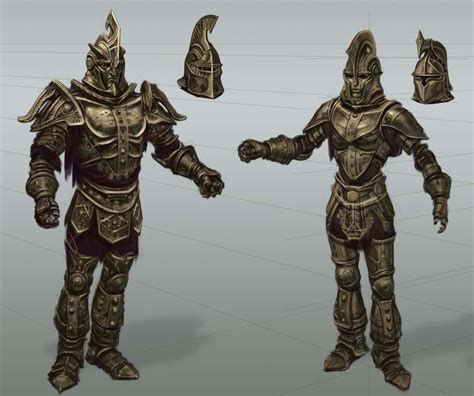 Dwemer Armor Rough Sketch Concept Art From The Elder