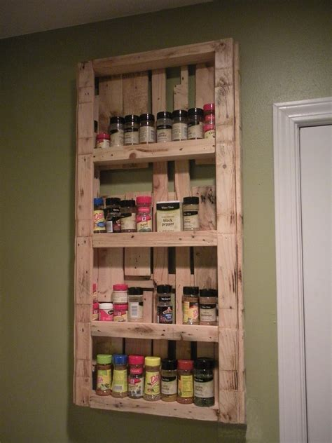 Cheap Spice Rack by My Spice Rack Made From Pallets Palletable Designs Diy