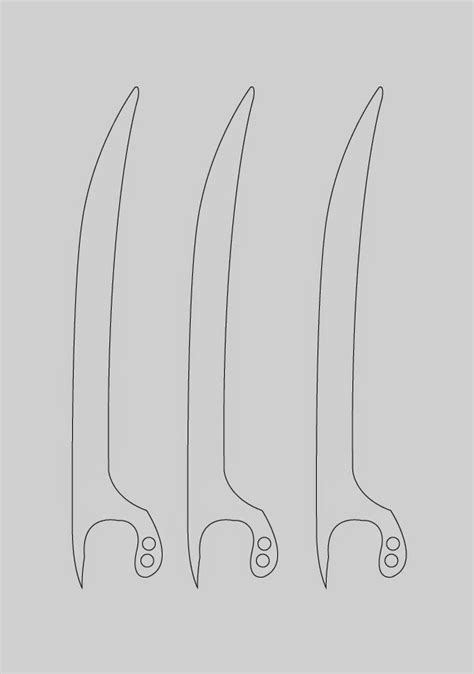 wolverine claws template dali lomo wolverine prop claws cardboard diy with template